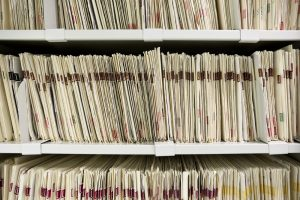 What types of public records are contained in dissolution files?